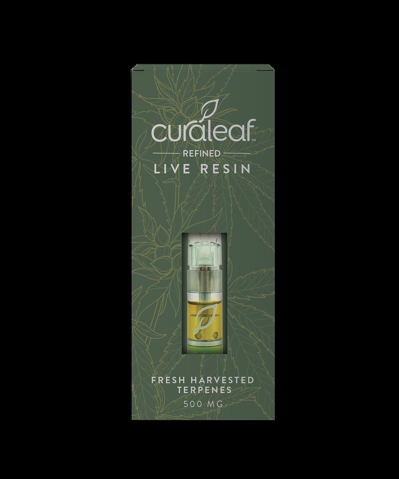 THC Live Resin Cartridge Taffie (Tff)-Hybrid-80% THC-0.5g - Curaleaf