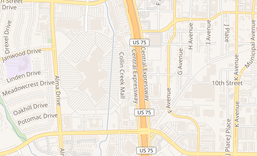 map of 921 N Central Expy Ste 102Plano, TX 75075
