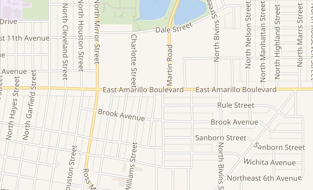 map of 1804 E Amarillo BlvdAmarillo, TX 79107
