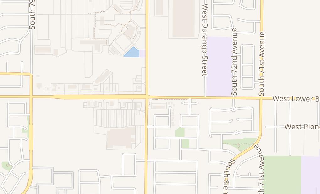 map of 7435 W Lower Buckeye Ste 100Phoenix, AZ 85043