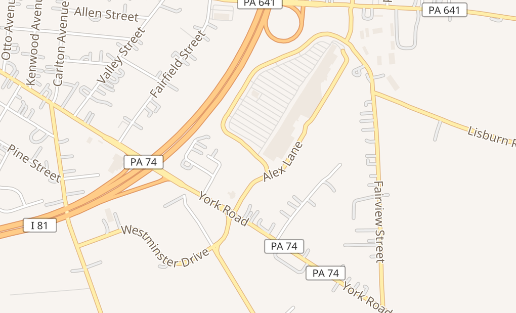 map of 232 Westminster Dr Ste 2Carlisle, PA 17013
