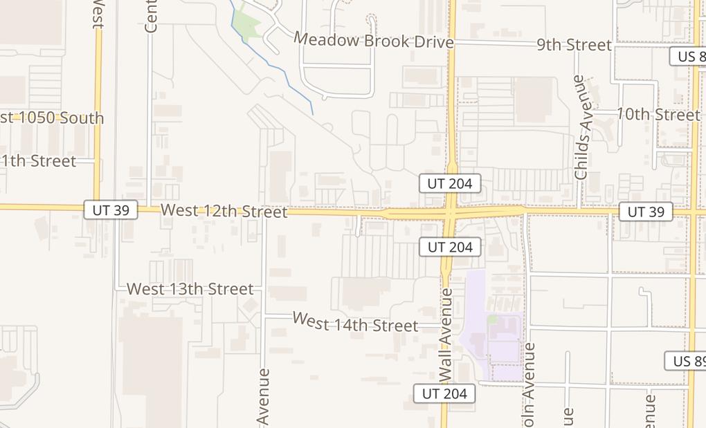 map of 185 W 12Th St Ste COgden, UT 84404