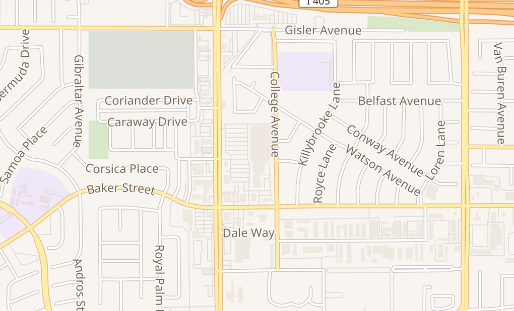 map of 3030 Harbor Blvd Ste H2Costa Mesa, CA 92626