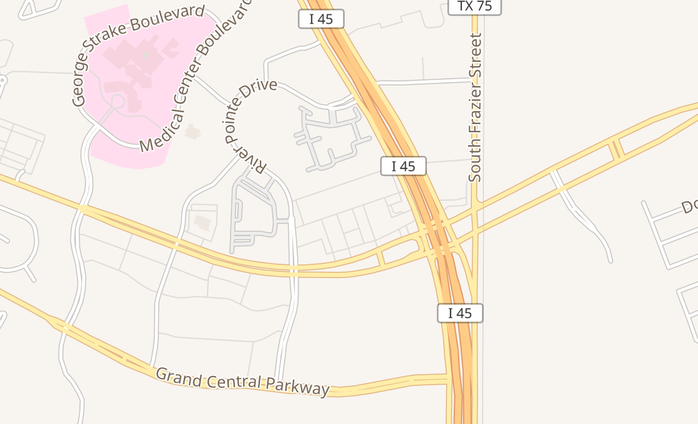 map of 381 S Loop 336 W Ste 600Conroe, TX 77304