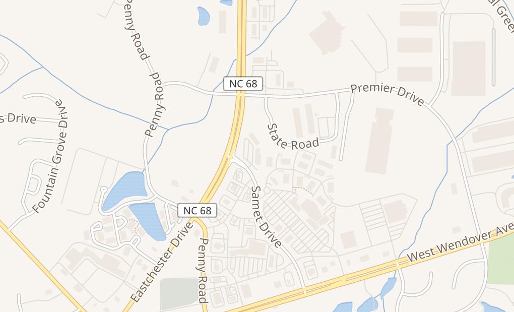 map of 5870 Samet Dr Ste 109High Point, NC 27265