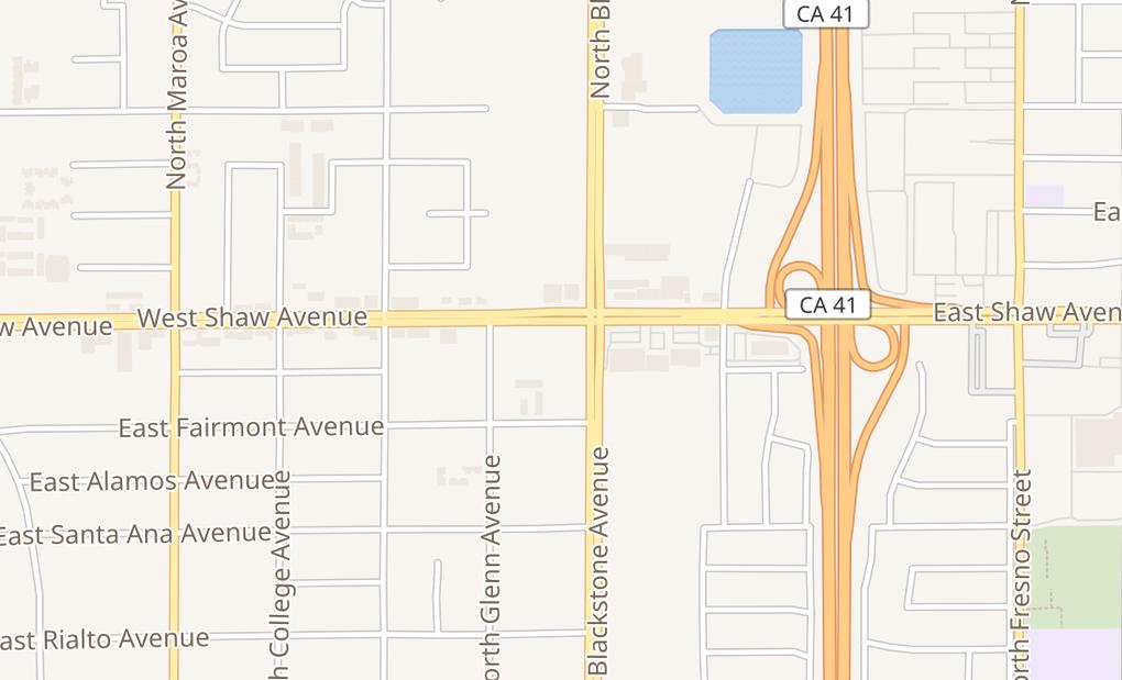 map of 4955 N Blackstone AveFresno, CA 93726
