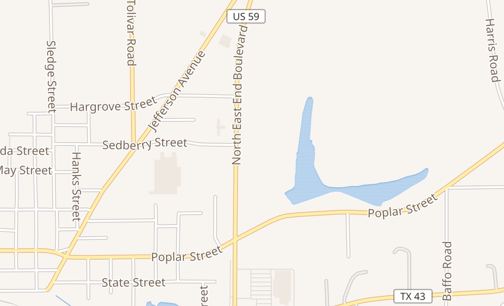 map of 1806 E End Blvd Ste 100Marshall, TX 75670