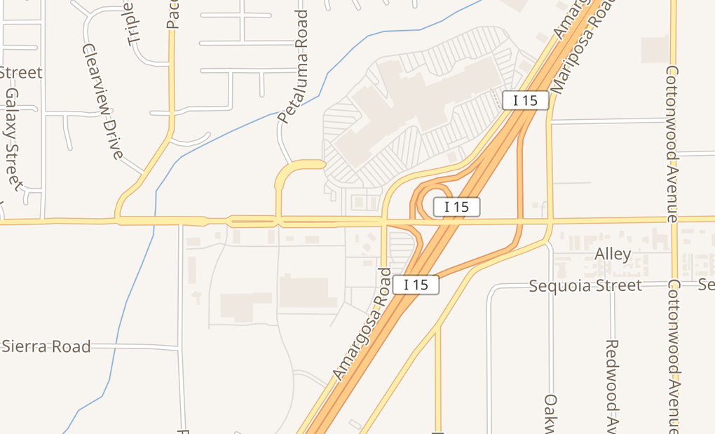 map of 14350 Bear Valley Rd Ste 101Victorville, CA 92392