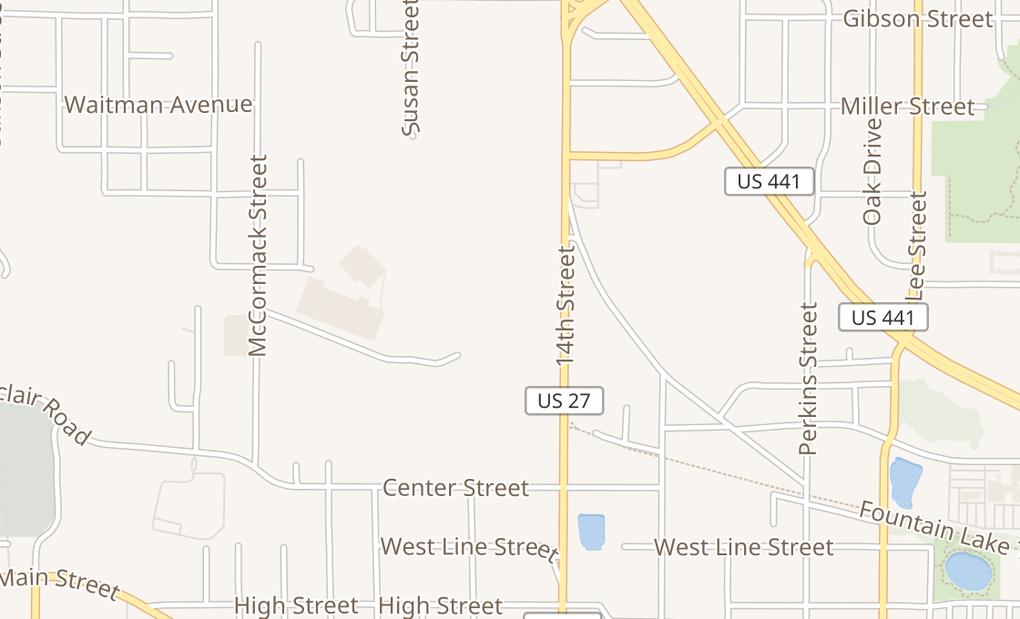 map of 715 N 14Th StLeesburg, FL 34748