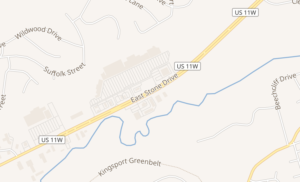map of 2600 E Stone Dr Ste AKingsport, TN 37660