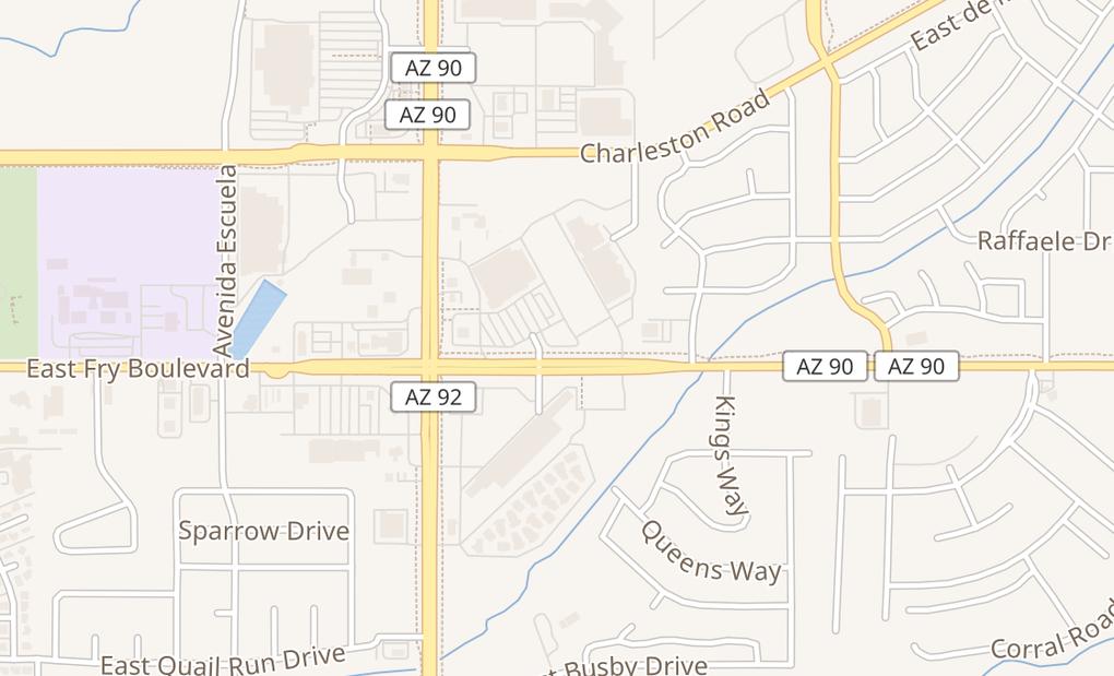 map of 4177 E Highway 90 Ste 110Sierra Vista, AZ 85635
