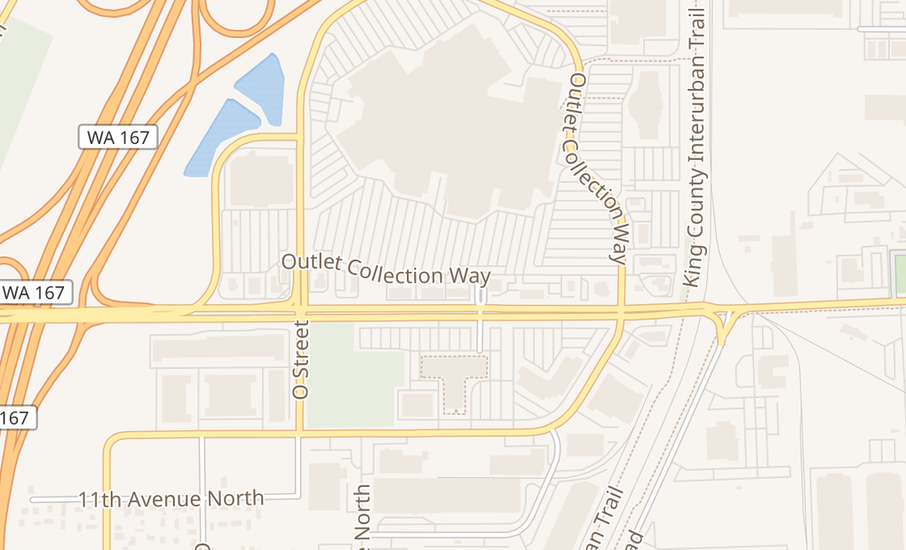 map of 1101 Outlet Collection Dr Ste 1140Auburn, WA 98001