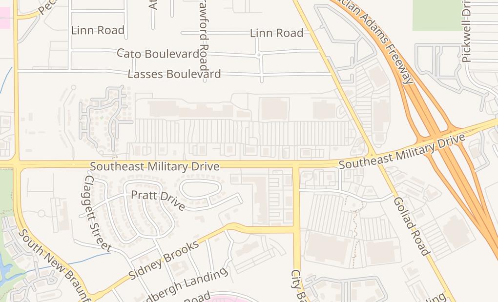 map of 3155 Se Military Dr Ste 102San Antonio, TX 78223