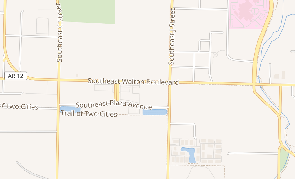 map of 1000 Se Walton Blvd Ste 12Bentonville, AR 72712