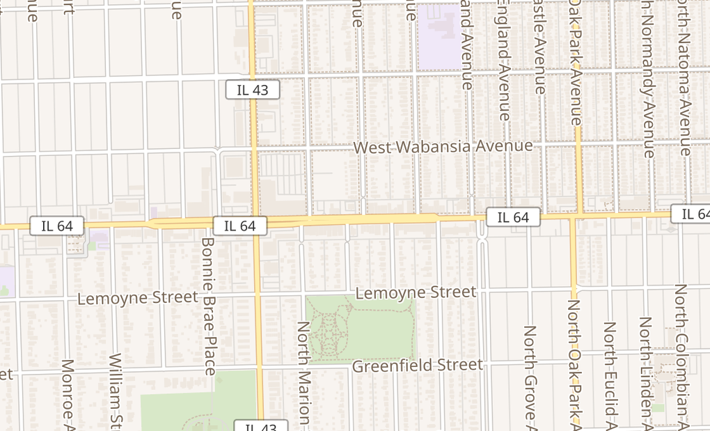 map of 7112 W North AveChicago, IL 60707