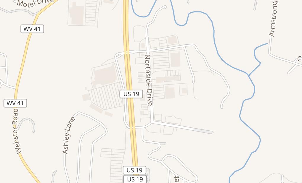 map of 846 Northside DrSummersville, WV 26651