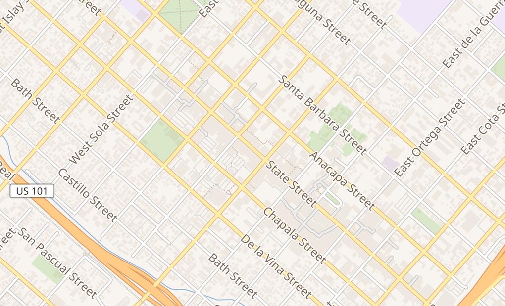map of 1011 State StSanta Barbara, CA 93101