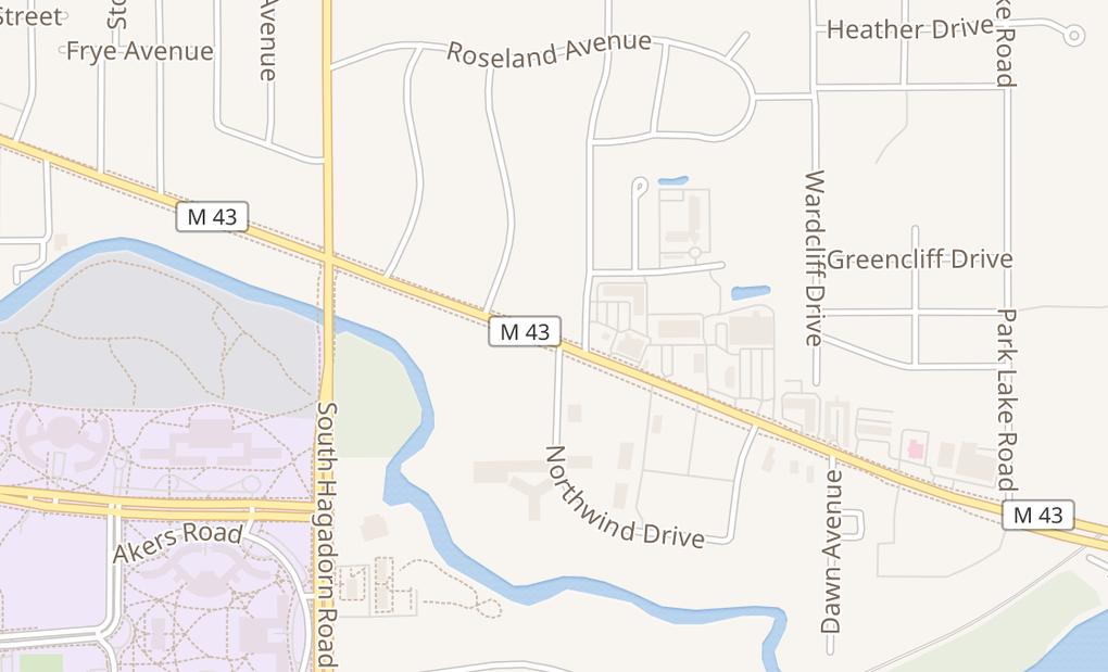 map of 2843 E Grand River Ave Ste 130East Lansing, MI 48823