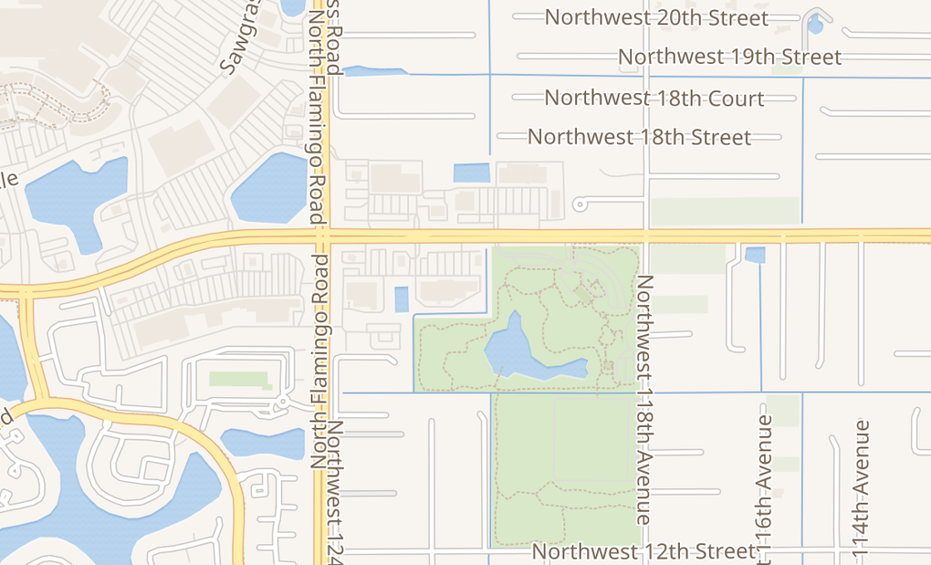 map of 12150 W Sunrise BlvdPlantation, FL 33323