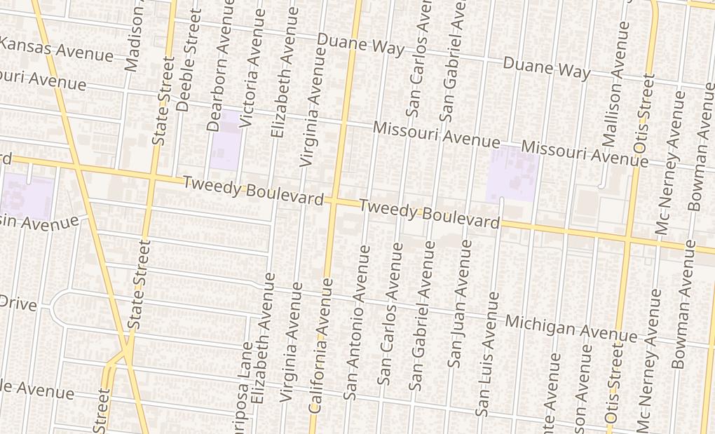 map of 3534 Tweedy BlvdSouth Gate, CA 90280