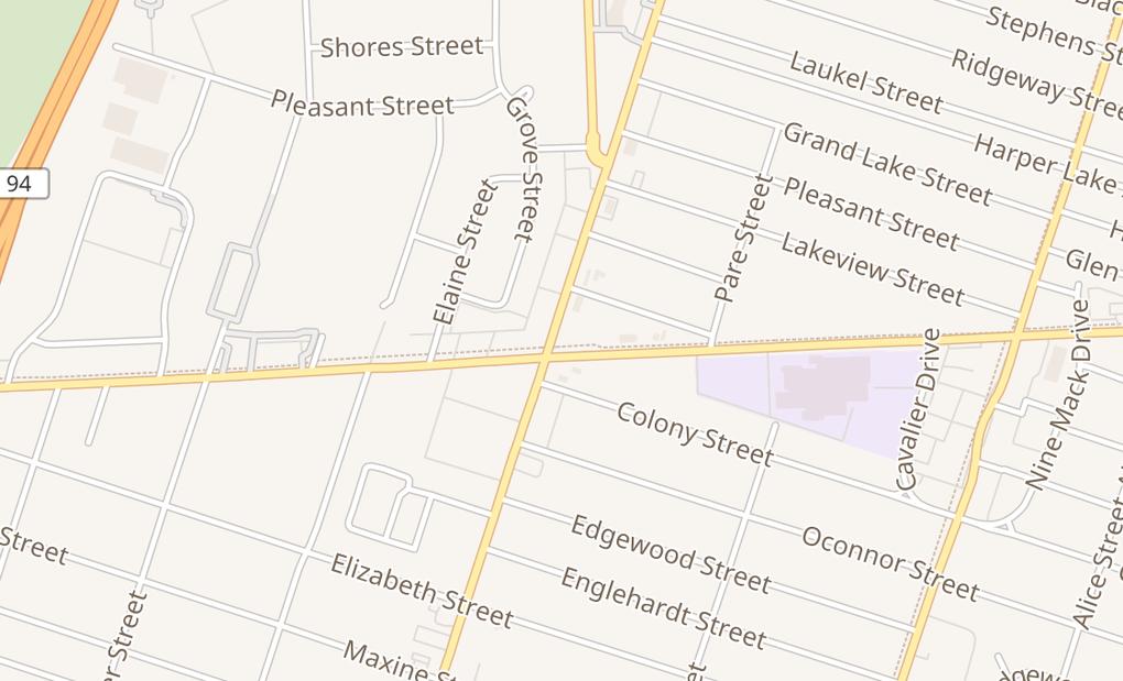map of 23130 Harper RdSaint Clair Shores, MI 48080