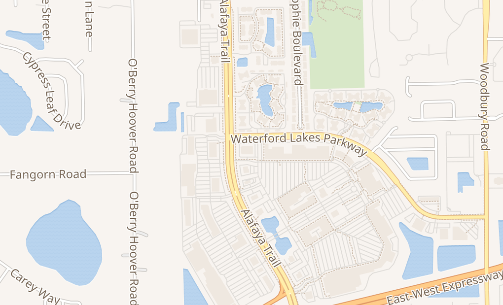 map of 885 N Alafaya TrlOrlando, FL 32828