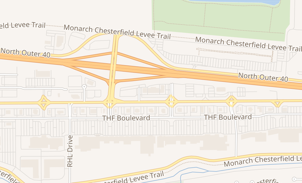 map of 17239 Chesterfield Airport RdChesterfield, MO 63005