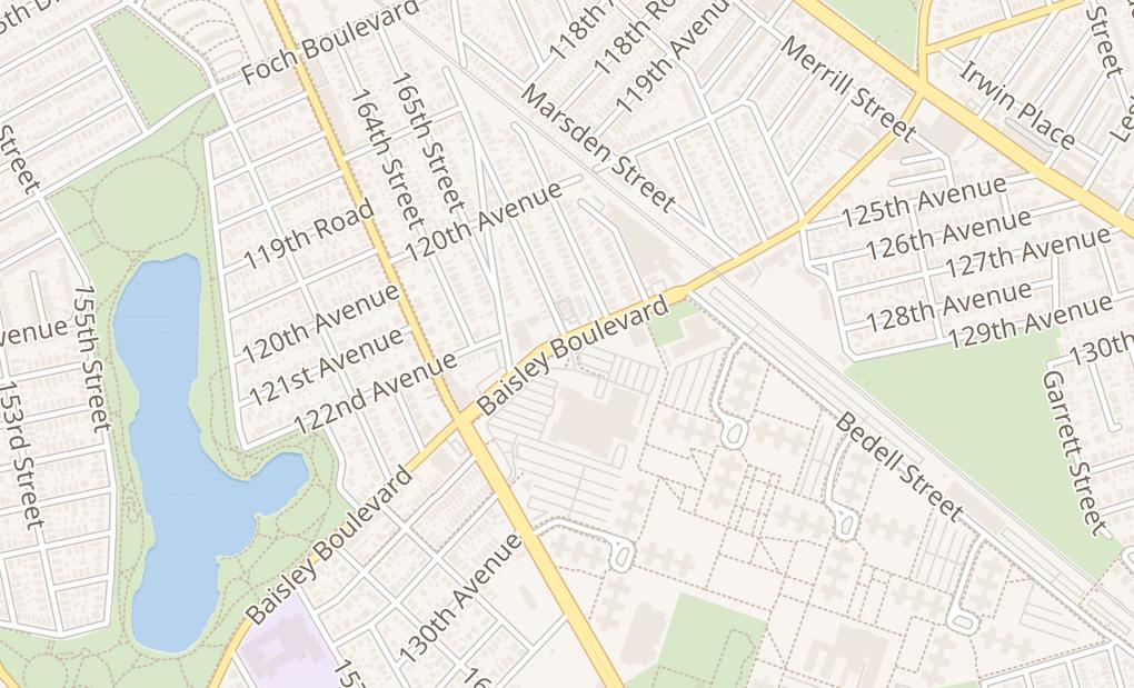 map of 165-96 Baisley Blvd # 2Jamaica, NY 11434