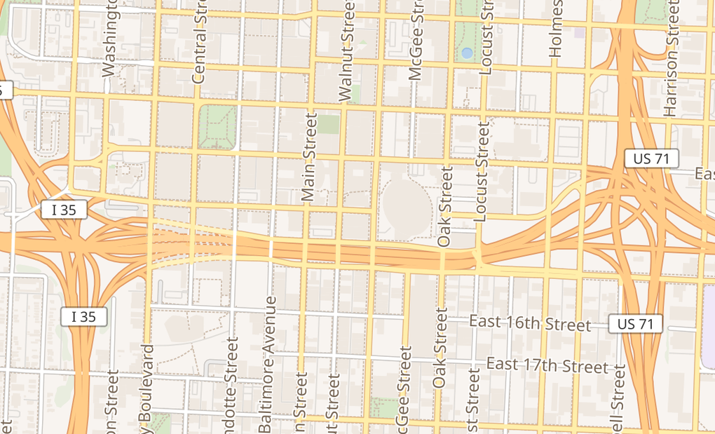 map of 161 E 14Th StKansas City, MO 64106