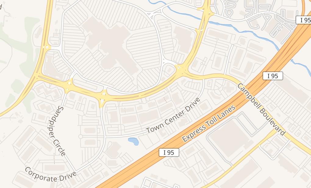 map of 8157 Honeygo Blvd Ste GBaltimore, MD 21236