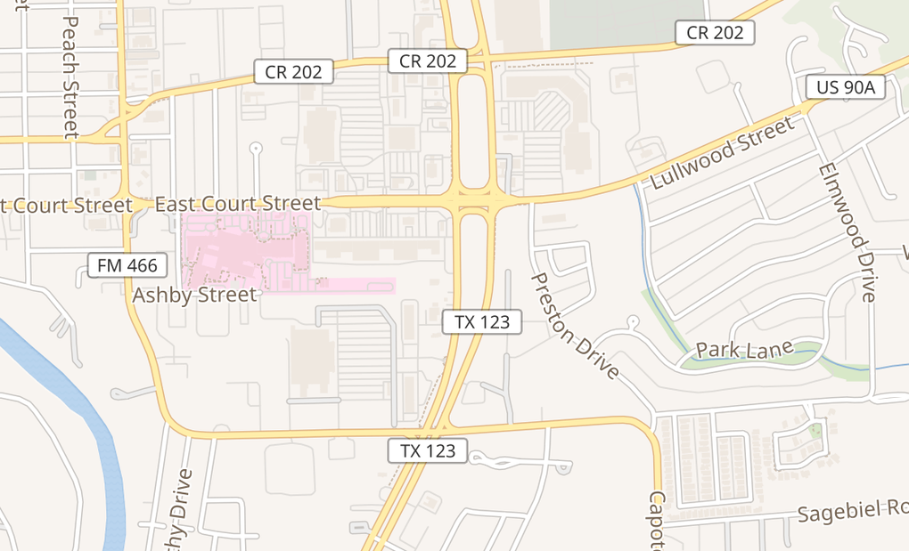 map of 260 S Highway 123 BypSeguin, TX 78155