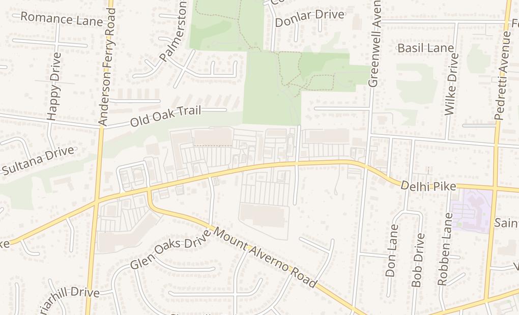 map of 5048 Delhi AveCincinnati, OH 45238