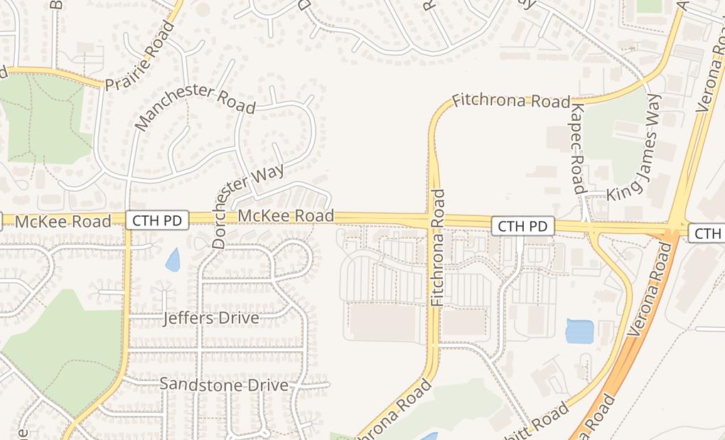 map of 6291 Mckee Rd Ste DFitchburg, WI 53575