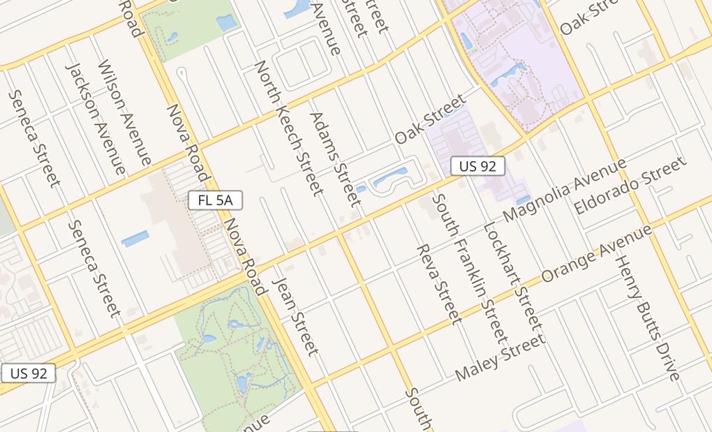 map of 910 W International Speedway BlvdDaytona Beach, FL 32114