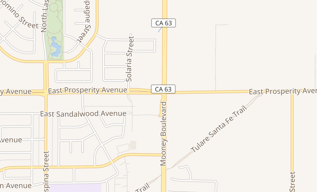 map of 2119 E Prosperity AveTulare, CA 93274
