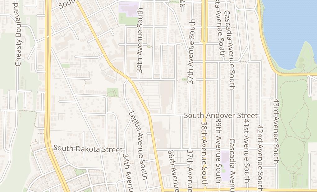 map of 3820 Rainier Ave SSeattle, WA 98118