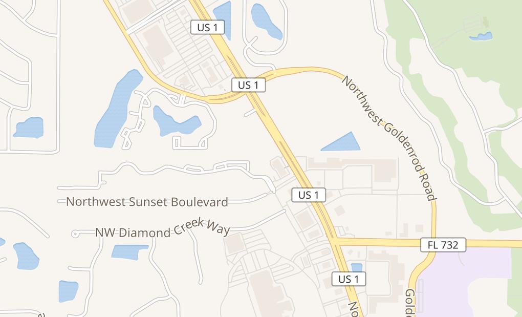 map of 3631 NW Federal HwyJensen Beach, FL 34957-3676