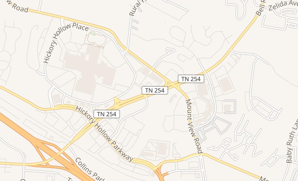 map of 887 Bell RdAntioch, TN 37013
