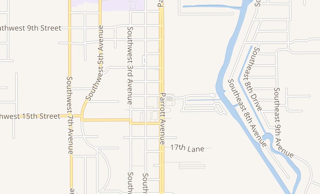 map of 1418 S Parrott Ave Suite D & EOkeechobee, FL 34974