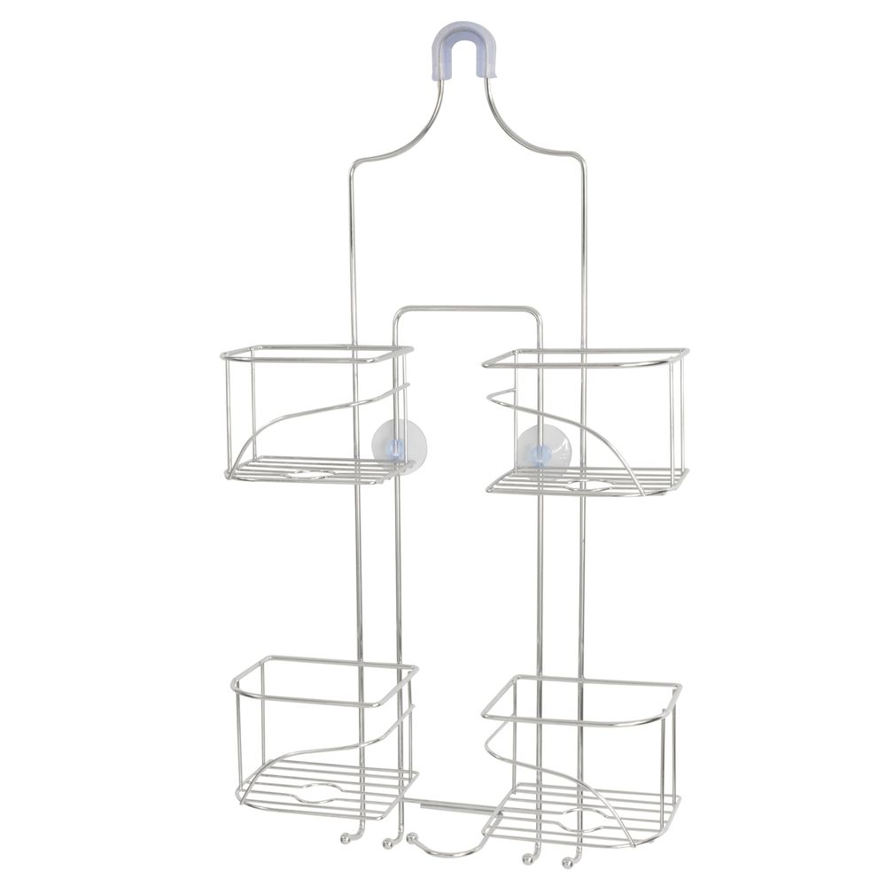 Exquisite Split Shower Caddy for Hand Held Shower Heads 4 Shelf ...