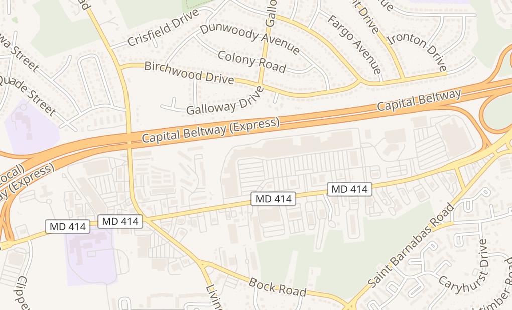 map of 6183 Oxon Hill RdOxon Hill, MD 20745