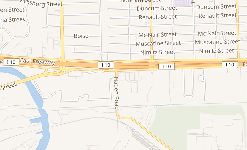 map of 13706 East Fwy Ste 400Houston, TX 77015