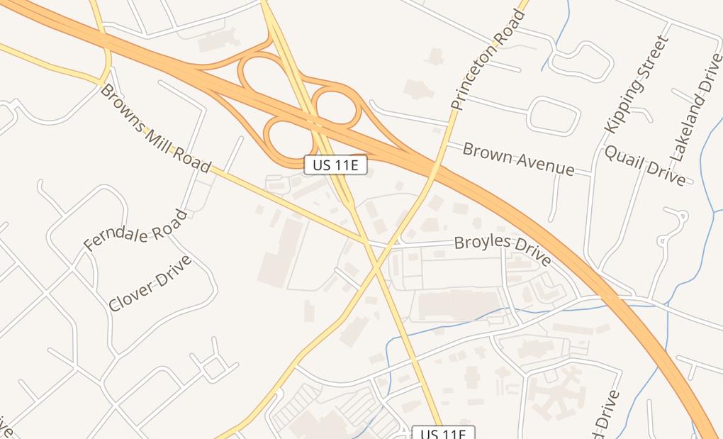 map of 2244 N Roan StJohnson City, TN 37601