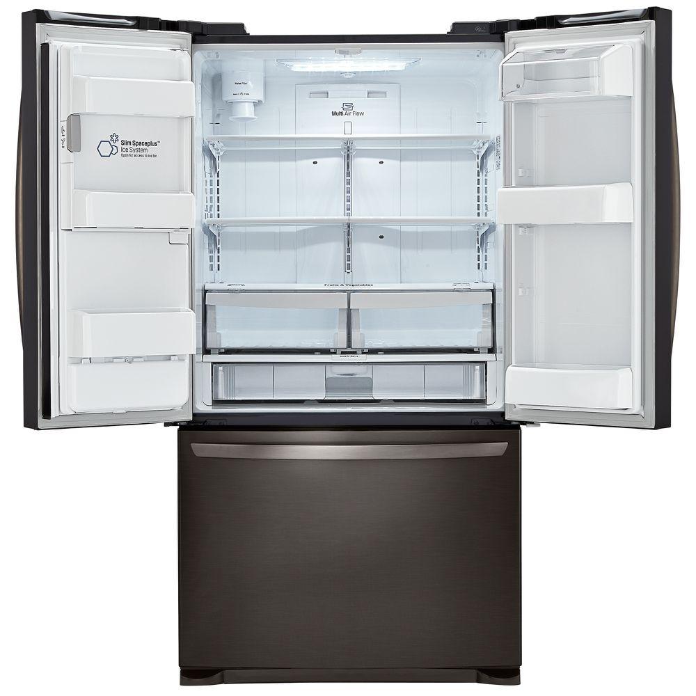 LG LFX25973D 24.1 cu. ft. French Door Bottom-Freezer Refrigerator w ...