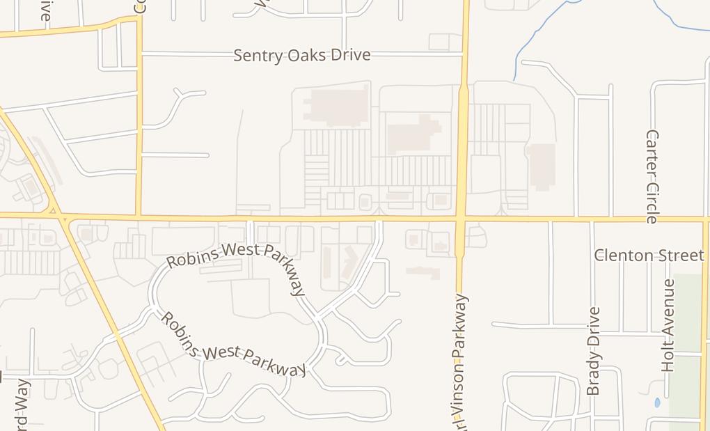 map of 2745 Watson BlvdWarner Robins, GA 31093