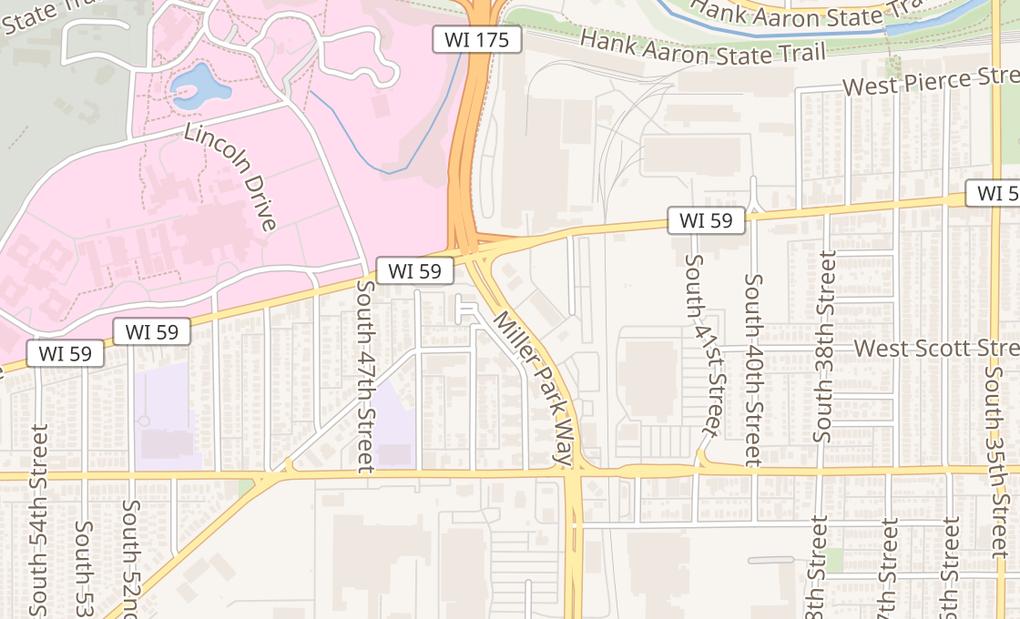 map of 1138 Miller Park WayWest Milwaukee, WI 53214