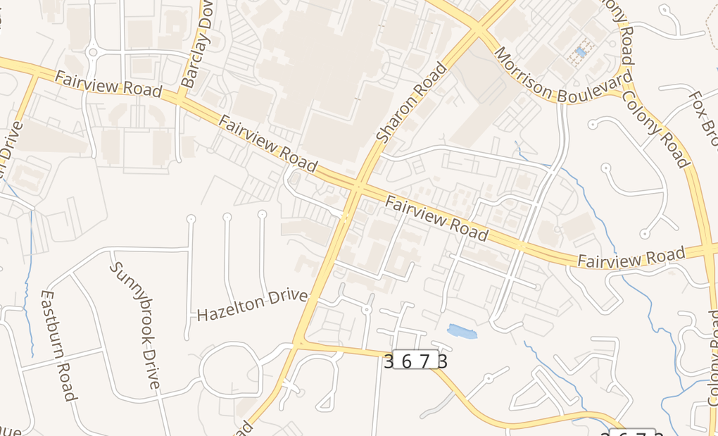 map of 4717 Sharon Rd Ste 2ACharlotte, NC 28210