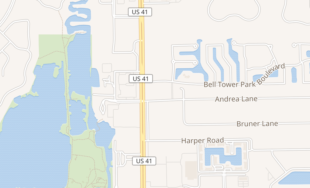 map of 14261 S Tamiami Trl Ste 9Fort Myers, FL 33912
