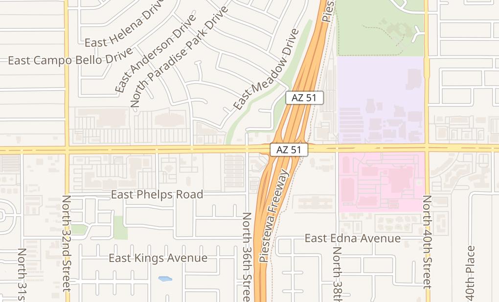 map of 3607 E Bell Rd Ste 7-8Phoenix, AZ 85032