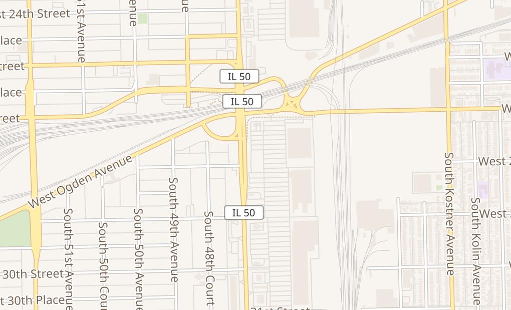 map of 2625 S Cicero Ave Ste ACicero, IL 60804